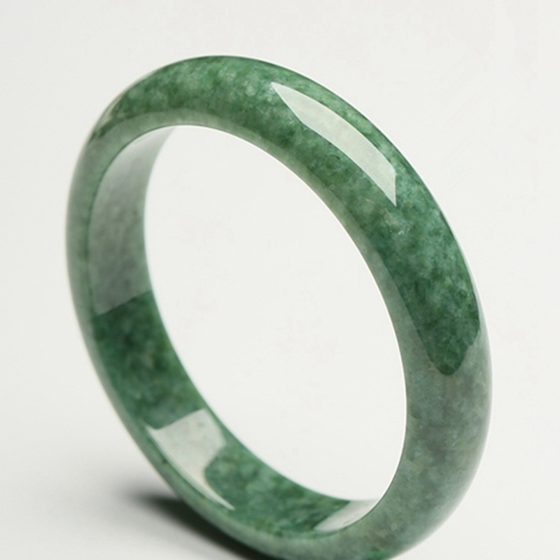 Glossy Hand Carved Bracelet Beautiful Bangle Chinese Green Jade 54mm-64mm KYY8755