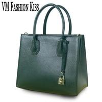 VM FASHION KISS High Quality Genuine Leather Luxury Women Designer Handbags Europe And United States Trend