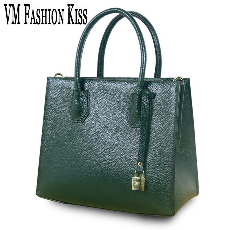 VM FASHION KISS High Quality Genuine Leather Luxury Women Designer Handbags Europe And United States Trend Crossbody Bag high quality hydraulic valve dg4v 3s 0b vm u h5 60