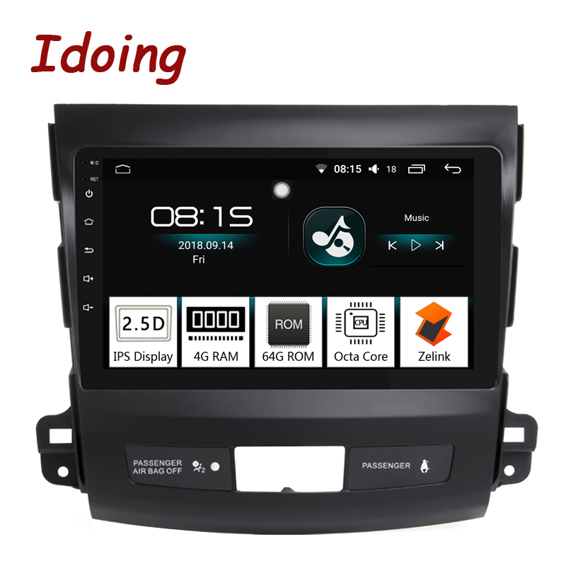 Idoing 94G+64G Octa Core Car Android8.0 Radio Multimedia Player Fit Mitsubishi Outlander 2006-2012 2.5D IPS GPS Navigation PX5
