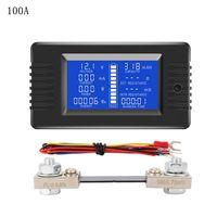 DC 0 200V 0 300A Batterie Tester Voltmeter Amperemeter Power Impedanz Kapazität Energie Zeit Meter 50A/100A/ 200A/300A Multimeter K4UA|Energiezähler|   -