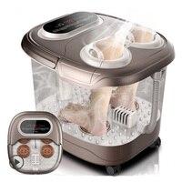 Массаж ног для Ванной Автоматический таз для ног электрическое отопление дома применение пальцы замесить фумигации массаж Тай Чи