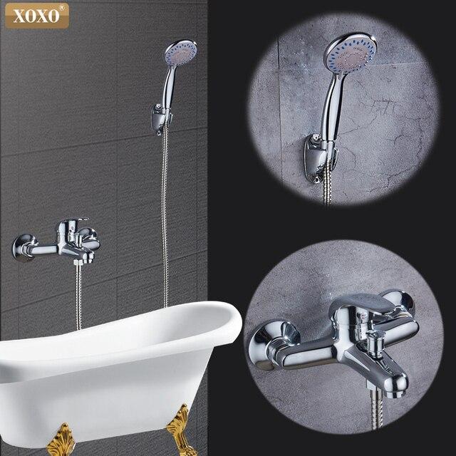 XOXO Бесплатная доставка ванной кран тропический душ ванны душ смеситель для душа X2263