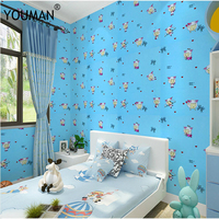 Wallpapers Youman PVC For Kids Room Modern Cartoon Photo Wallpaper Sticker Solid Floral Self adhesive Wallpaper For Wall Roll