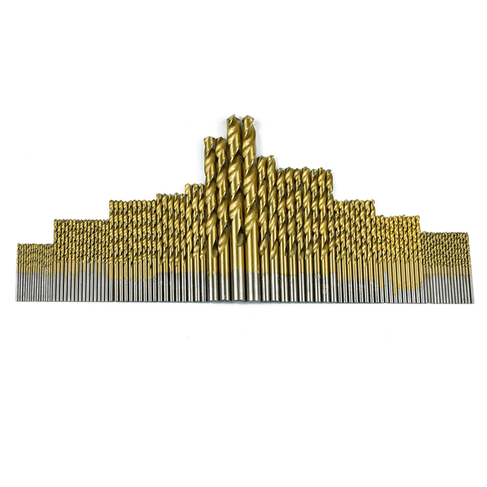 99pcs 4241 HSS  High-Speed Steel Twist Drill Kit Bits Carpenter Power Tool Woodworking Drilling Cut Grooving Saw Drill Bits 99pcs high speed steel twist drill bits 1 5mm 10mm tool with case