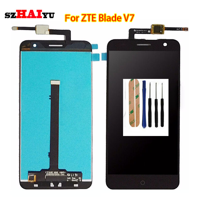 SZHAIYU 1920x1080 5.2'' LCD For ZTE Blade V7 LCD Display Touch Screen Digitizer Panel Replacement Part Assembly