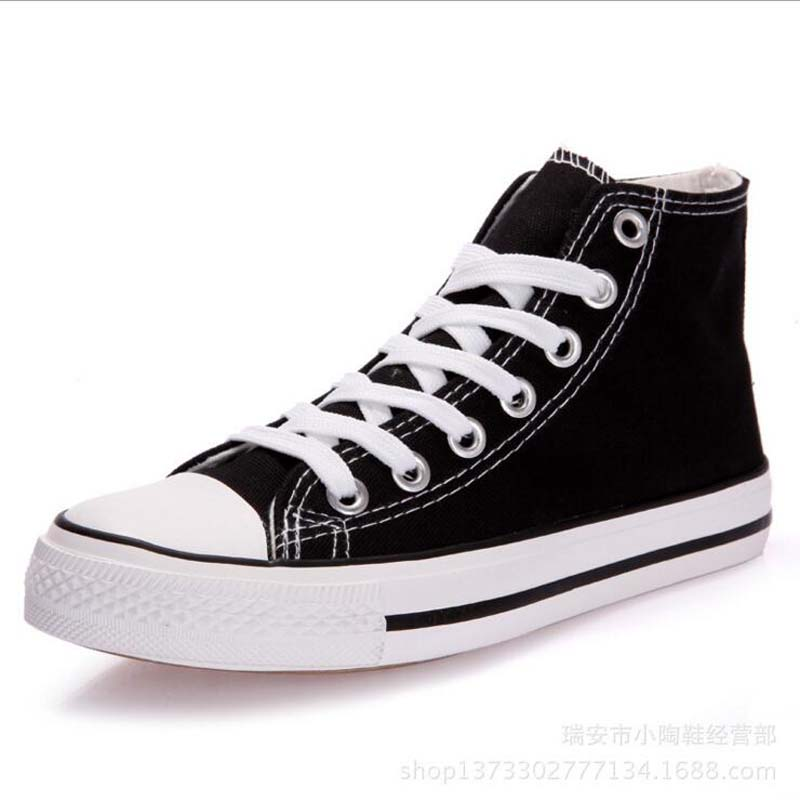 New Arrival Summer Fashion Girl Flats Shoes All Black White red Casual Shoes Women Canvas Shoes Lace-Up high top shoes NN-269 men women s converse all star shoes high top lace up flats design five food recipes on white canvas sneakers gifts
