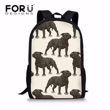 FORUDESIGNS 2019 Children School Bags for Kids Bull Terrier