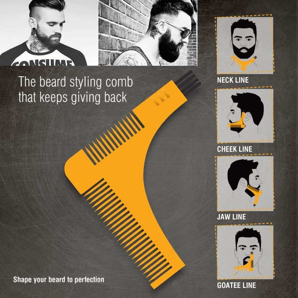 Salon Hair Trimmer Beard Comb Trim Styling Man Gentleman Beard Bro Trim  Template Hair Cut Molding Hair Clipper Beard Model Tools (SUPER SALE July