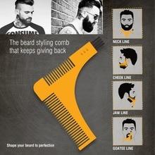Salon Hair Trimmer Beard Comb Trim Styling Man Gentleman Beard Bro Trim Template hair cut molding Hair clipper beard model tools