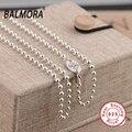 Новый 100% Настоящее Стерлингового Серебра 925 Бусины Ожерелья 18-32 дюйм(ов) Женщины Ювелирные Изделия Рождественские Подарки Bijoux JLW60124