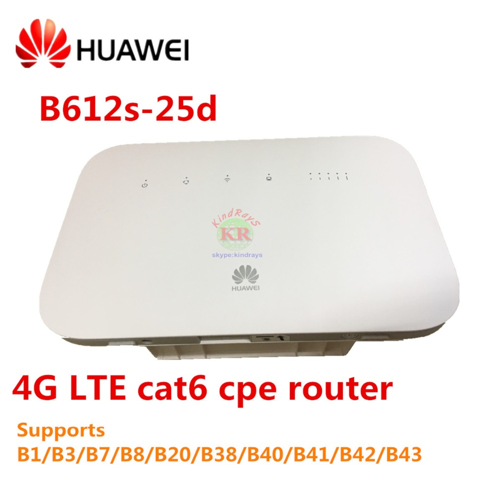 Unlocked Huawei B612 4G LTE Cat6 CPE router B612s-25d 4G wifi router 300Mbps unlocked huawei e5175s 22 cpe wifi router lte fdd 800 900 1800 2100 2600mhz tdd2600mhz cat6 300mbps mobile 4g gateway router