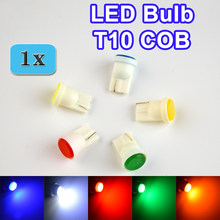 flytop 1 x T10 COB LED 194 W5W Automotive Lamp Auto Bulb Car Rear Light Color White / Yellow / Green / Blue / Red FREE SHIPPING(China)