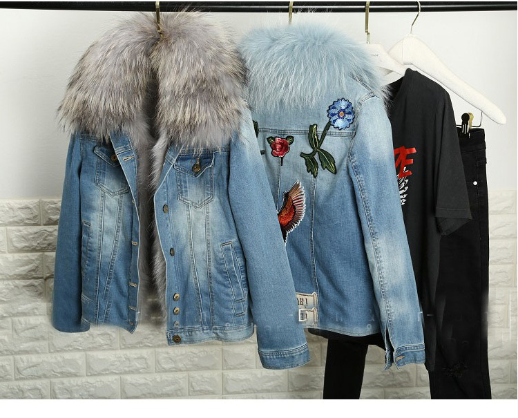 Online Get Cheap Fur Jean Jacket -Aliexpress.com | Alibaba Group