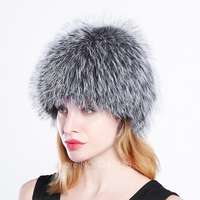 new winter fashion Parent child women wave real Silver fox fur hats warm knitted beanies cap elastic good quality female hat