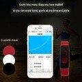 Super Leve Toque LEVOU Design Sport Correndo Digital Pulseira Wristaband Silicone Suave Inteligente Digital Branco/Preto/Vermelho