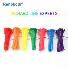 100 pcs 11 color 3*100 mm Plastic Zip Tie Self-locking Nylon Cable sleeve Ties black wire binding wrap straps UL Certified цена и фото