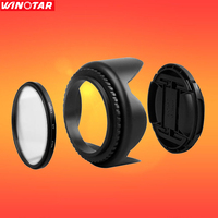 77mm UV Filter Lens Cap Lens Hood For Canon Nikon Tamron Sigma SONY Pentax Zeiss Olympus