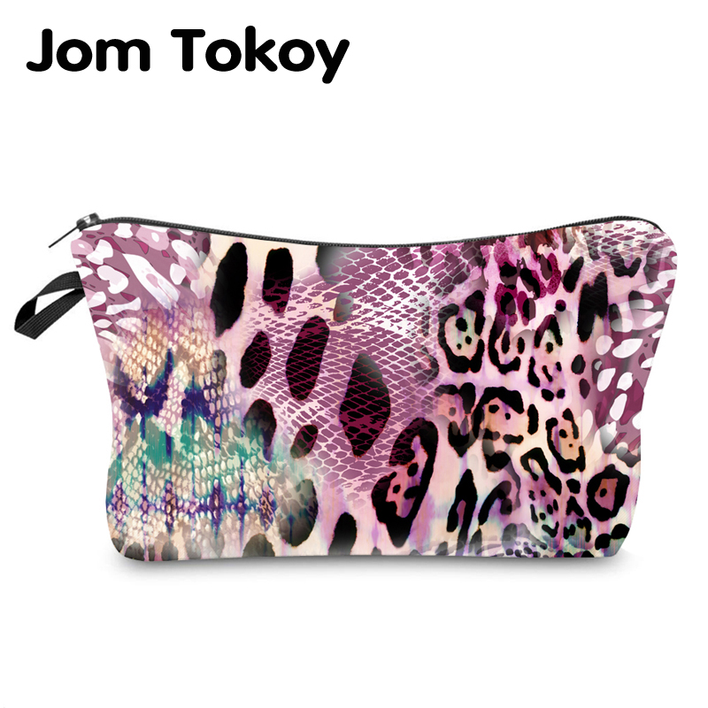 Jom Tokoy Water Resistant Makeup Bag Printing Leopard Cosmetic Bag Organizer Bag Women Multifunction Beauty Bag Hzb966