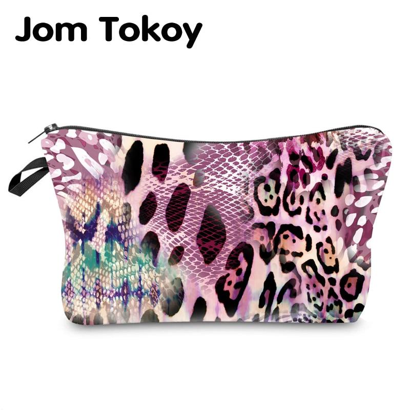 Jom Tokoy Water Resistant Makeup Bag Printing Leopard Cosmetic Bag Organizer Bag Women Multifunction Beauty Bag Hzb966
