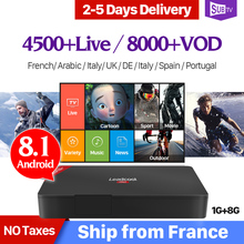 Smart IP TV Box Leadcool Pro Android 8.1 1+8G IPTV 4K RK3229 Italy English Arabic France IP TV 1 Year SUBTV French 4K Box цена в Москве и Питере
