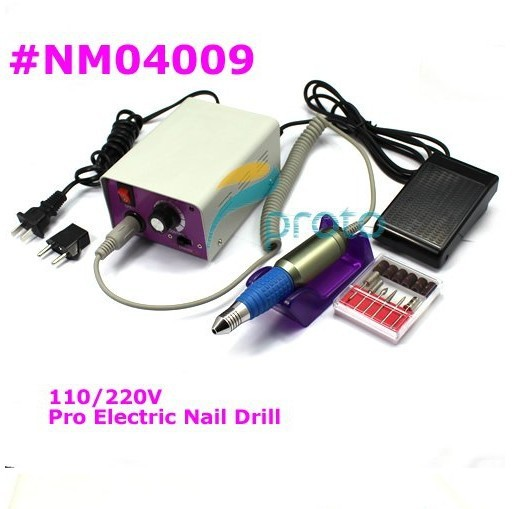 Freeshipping-Wholesales Electric Nail Drill for Nail Art Manicure Pedicure Set Nail File,110-240V SKU:E0061X