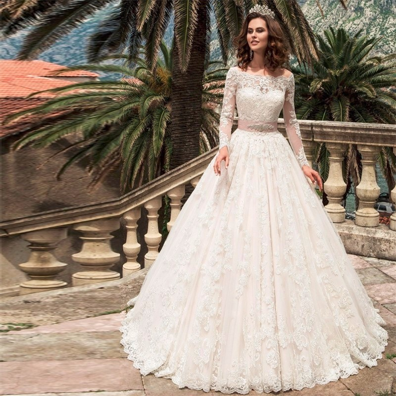 Buy long sleeve lace wedding dresses for Lace western wedding dresses
