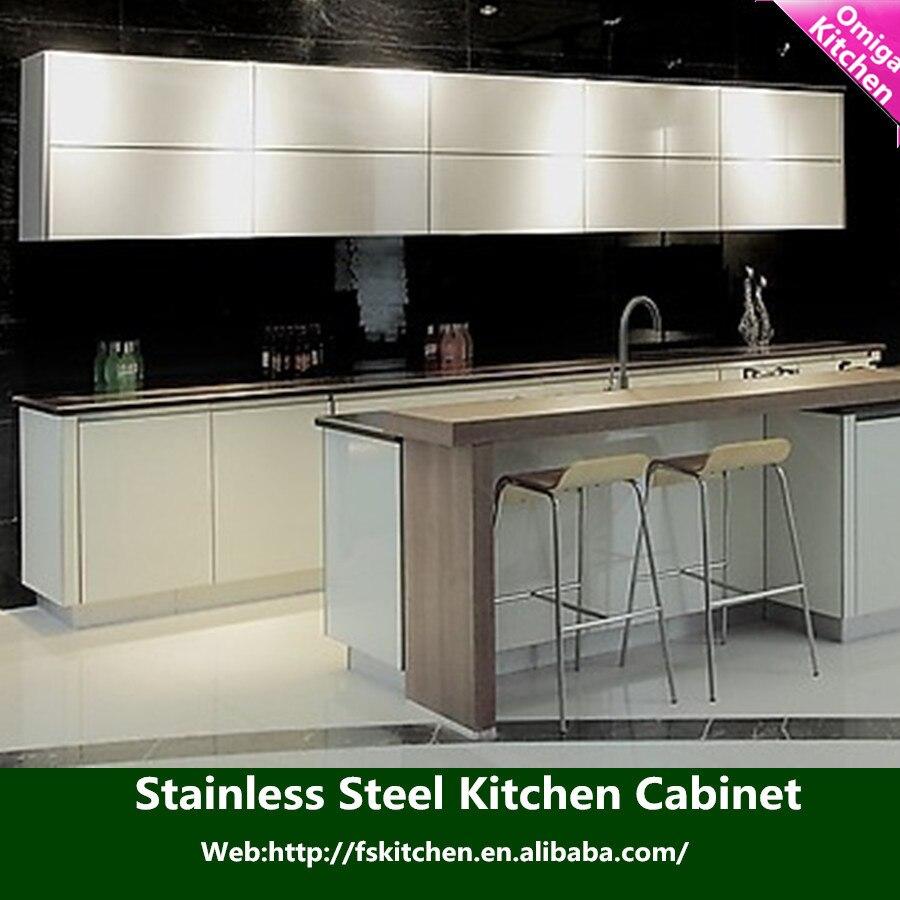 Acero inoxidable comercial gabinete de cocina / gabinete de acero ...