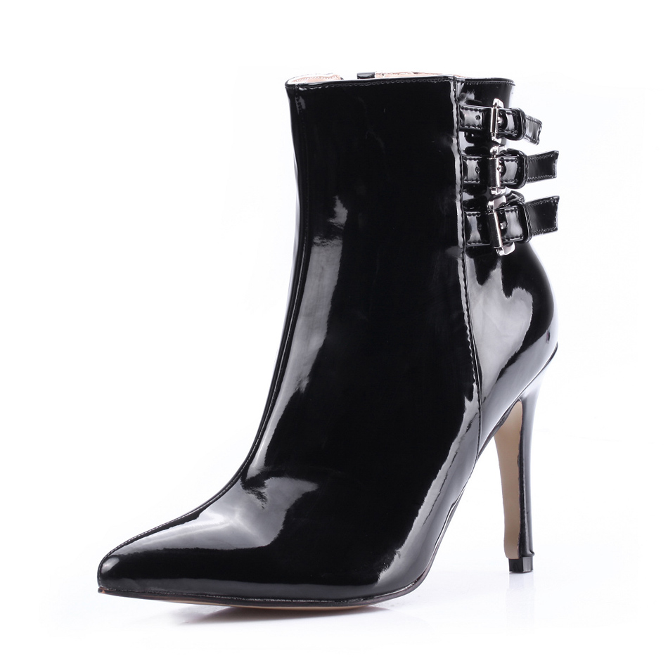 CHMILE CHAU Fashion Ankle Boot Women Buckle Pointed Toe Stiletto High Heel Stivali Caviglia Botas Mujer Talon haut 70887BT-b2CHMILE CHAU Fashion Ankle Boot Women Buckle Pointed Toe Stiletto High Heel Stivali Caviglia Botas Mujer Talon haut 70887BT-b2