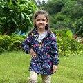 2017 Meninas Casacos Casacos esporte Ao Ar Livre À Prova D' Água À Prova de Vento Jaquetas de Outono Primavera Crianças Marca Double-deck Crianças Outerwear