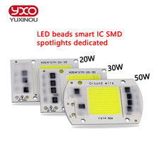 SMD COB Spotlight AC 220V Led Bulb Chip Beans Smart IC 20W 30W 50W Energy Saving Outdoor Lamp White / Warm Supper Bright Light