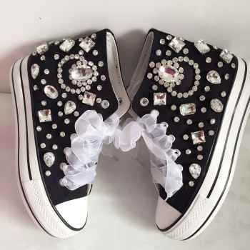 Silver Crystal and Rhinestone Beaded Women Vulcanize Shoes Ankle Boots Sneaker for Girls Lady Student Casual Dress