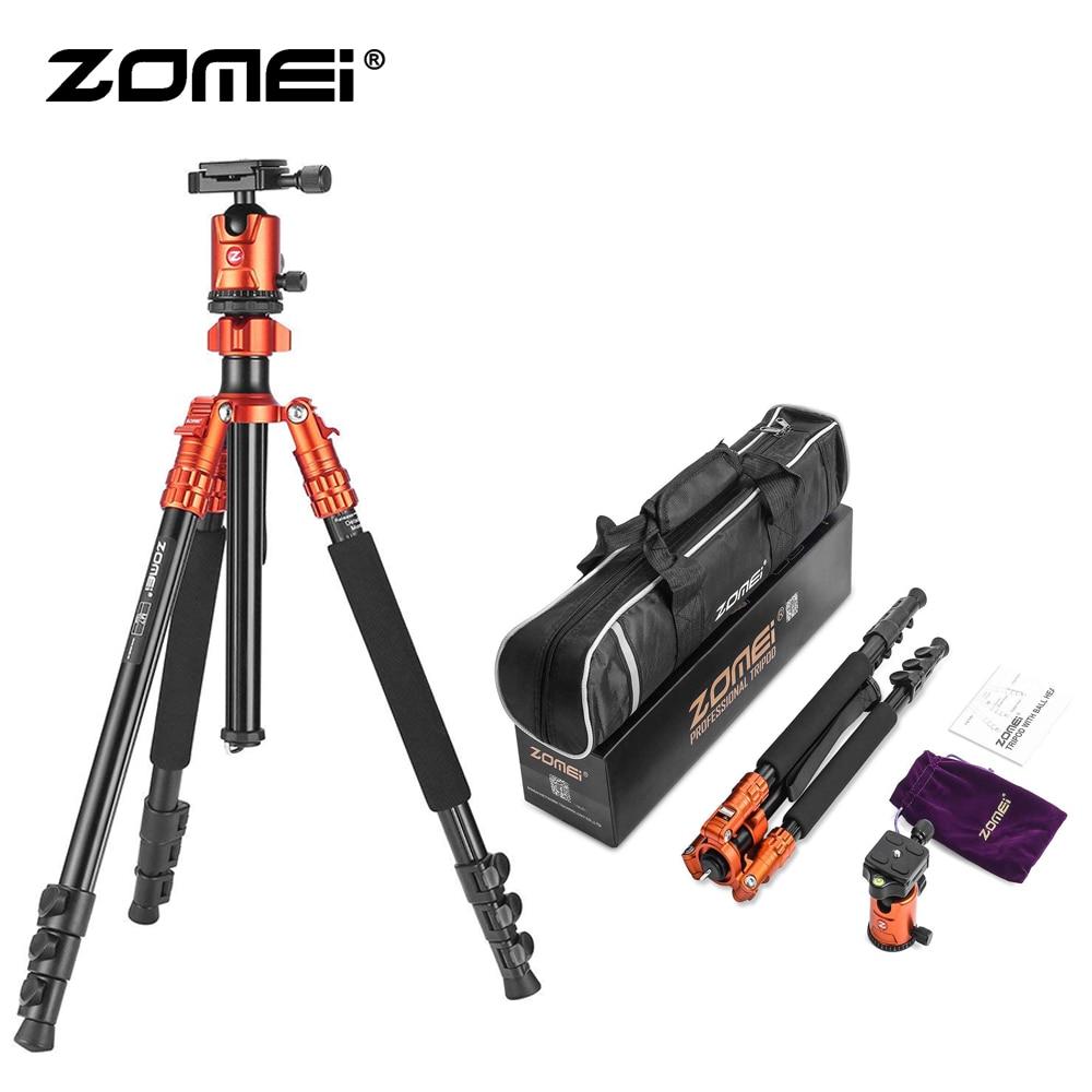 Zomei M7 trépied Compact de voyage avec plaque de fixation rapide à tête sphérique trépied DSLR monopode support pour appareil photo Canon Sony DSLR DV