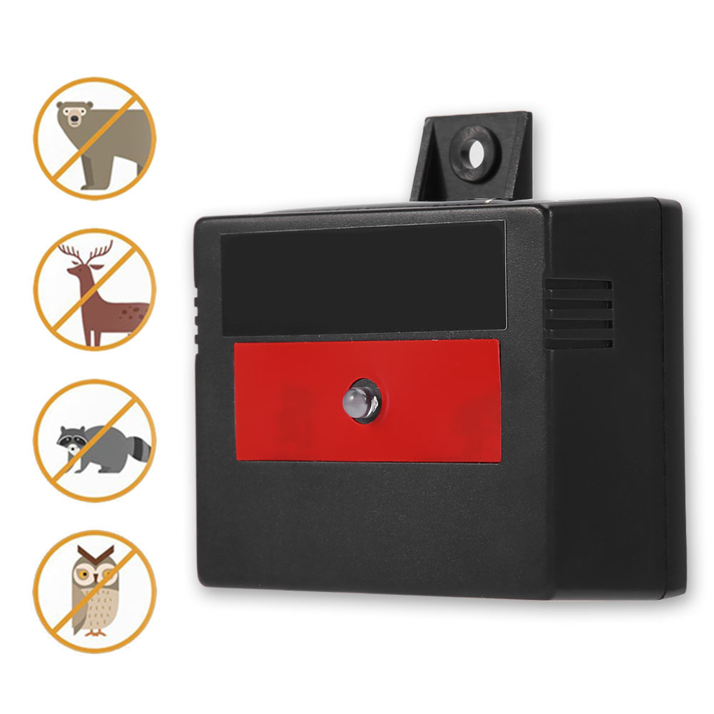 Solar Powered Animal Repeller For Cats Foxes Skunks Raccoons Raccoons Birds Repellent Farm Garden Skunks Rodent Mouse