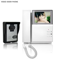 Hot sale video intercom system 4.3''tft lcd handset screen one monitor wire video doorphone for villa night vision one panel