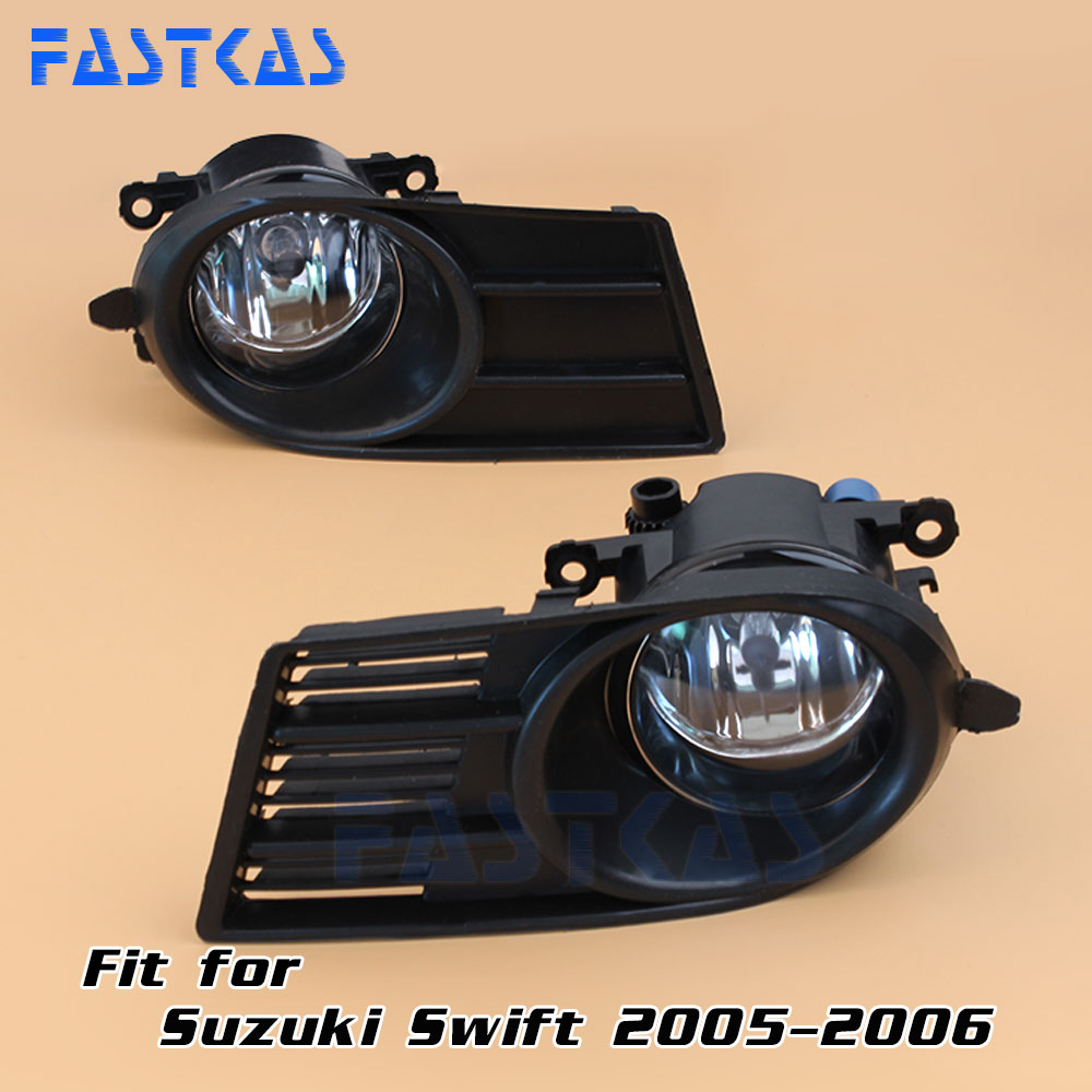 Car Fog Light for Suzuki Swift 2005 2006 Left Right Bumper Fog Lamp with Switch Harness Cover Fog Lamp Kit runmade for 2010 vw transporter t6 t5 before facelift lower bumper grill fog cover fog light lamp set left