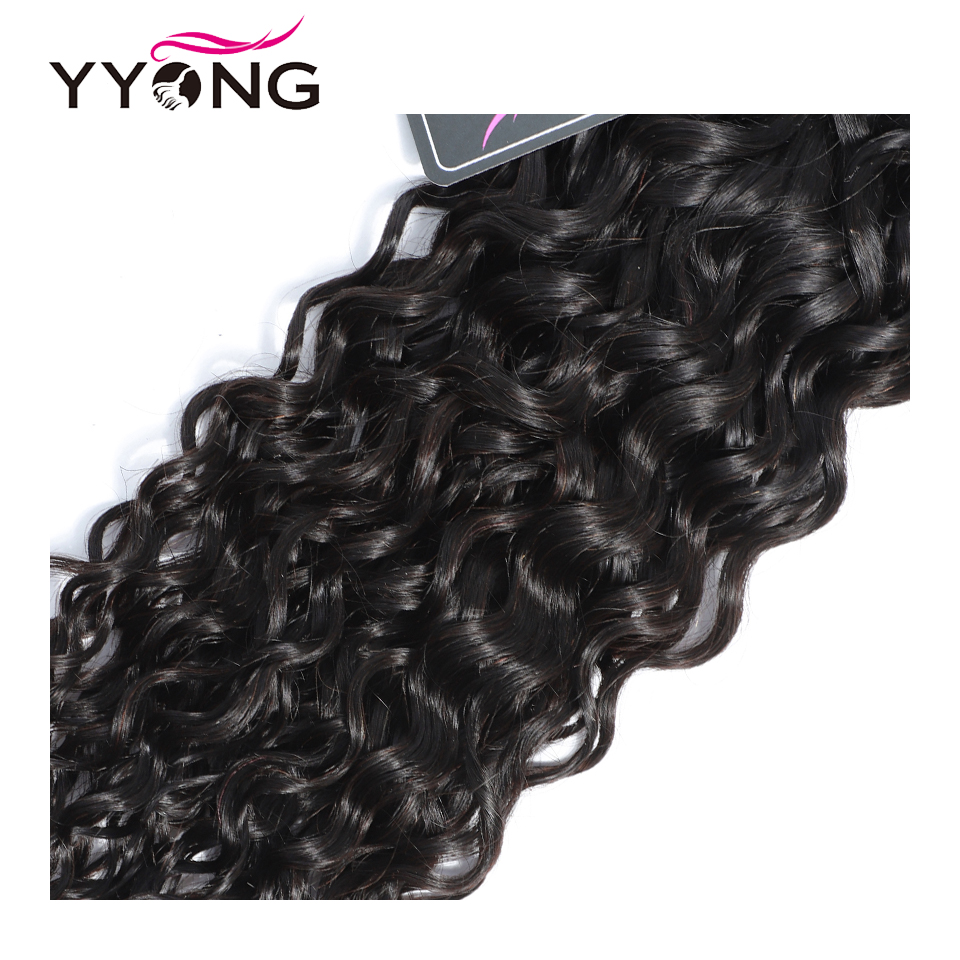Yyong Hair 4 Bundle Deals  Water Wave Hair s 8-26 Inch 100   Natural Color  Can Be Dyed 4