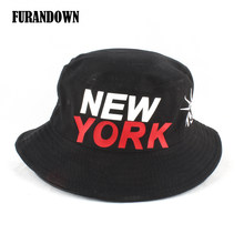 e8cfbfd0d5b new york print bucket hat foldable Summer cap hip hop fishing hiking hats  For Men Women