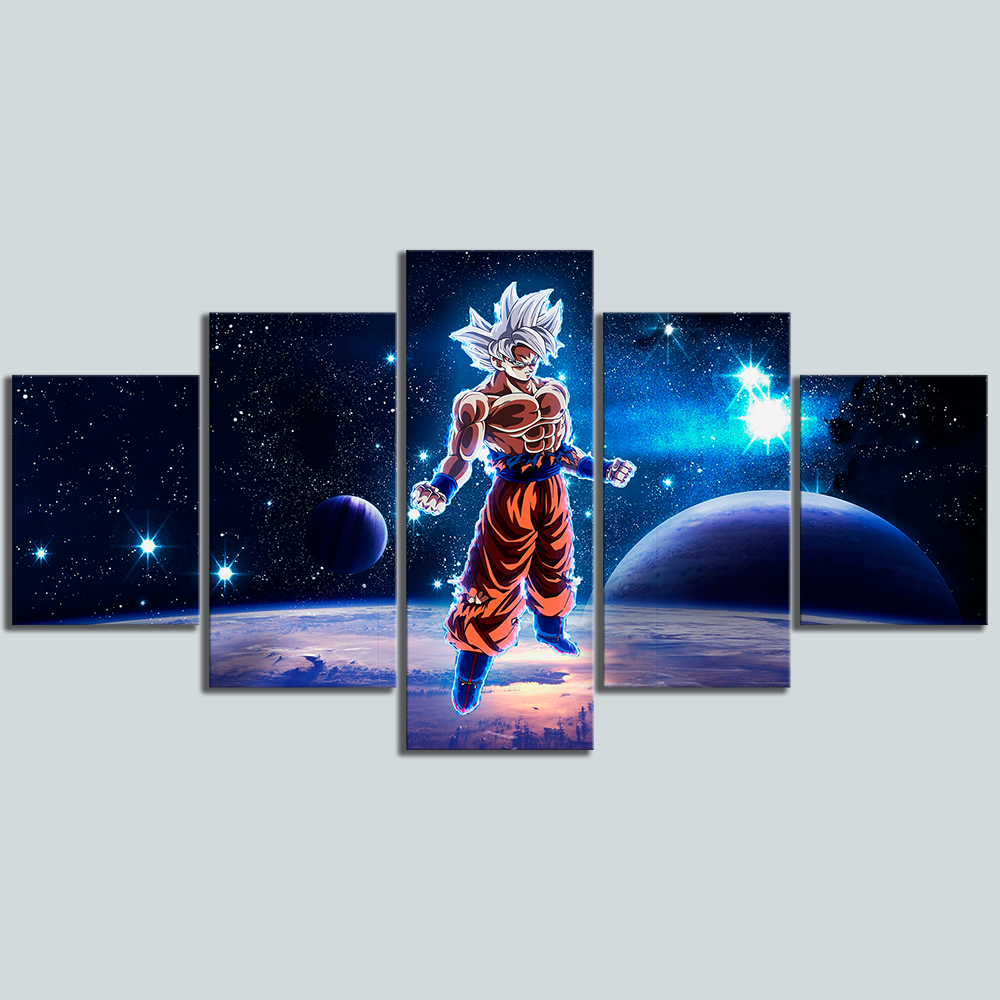 5 Piece Animation Art Dragon Ball Super Cartoon Pictures Wall Painting for Living Room Wall Decor 3