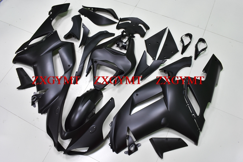 Plastic Fairings for Zx6r 2007 - 2008 Body Kits for Kawasaki Zx6r 07 Matter Black Plastic Fairings Zx6r 07Plastic Fairings for Zx6r 2007 - 2008 Body Kits for Kawasaki Zx6r 07 Matter Black Plastic Fairings Zx6r 07