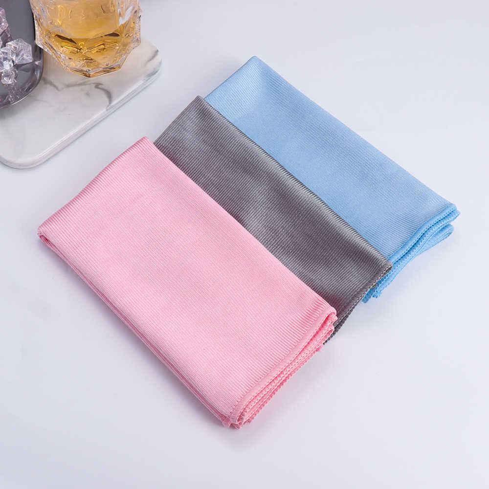 NEW Professional Glass Water Absorption No Lint Scouring Pad Cleaning Rags Microfiber Cleaning Wipe Mirror Washing Towel