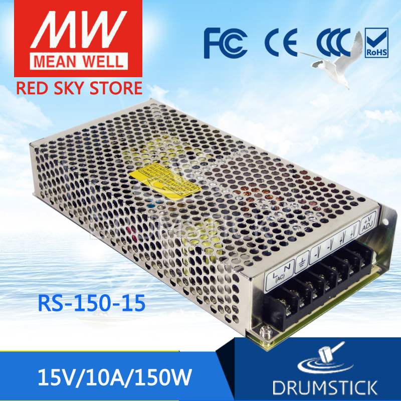 Selling Hot MEAN WELL RS-150-15 15V 10A meanwell RS-150 15V 150W Single Output Switching Power Supply