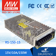 цена на Valuable MEAN WELL original RS-150-15 15V 10A meanwell RS-150 15V 150W Single Output Switching Power Supply