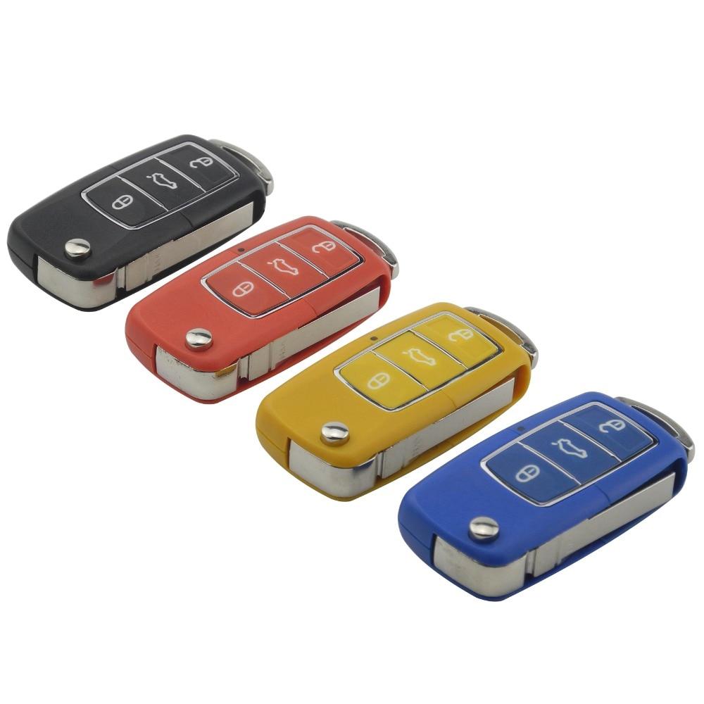 3 Button Flip Folding Uncut Blade Remote Car Key Case for Volkswagen VW Golf Passat Polo