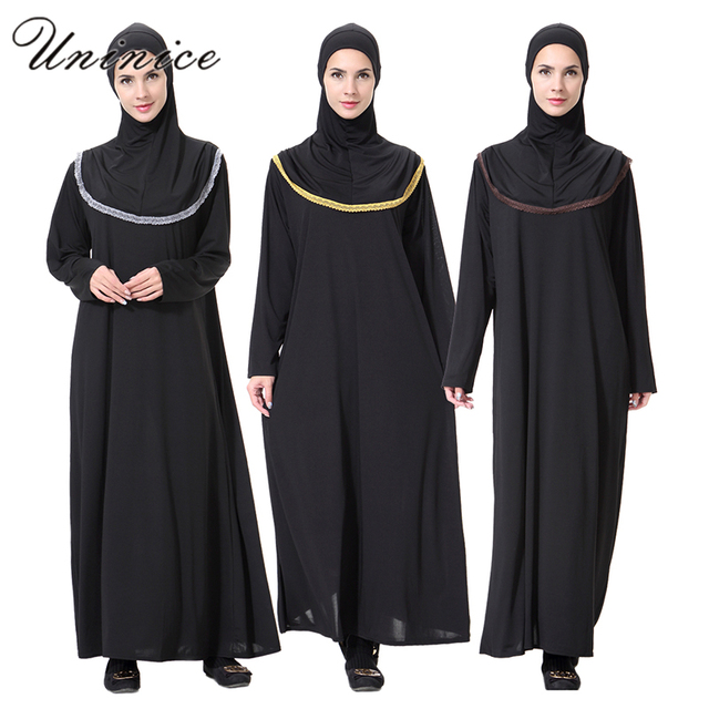US $29 97 |Linen Embroidery Muslim Dress Islamic Abaya Turkish Women's Maxi  Dresses Long Sleeve Headwear Ramadan Clothing -in Islamic Clothing from