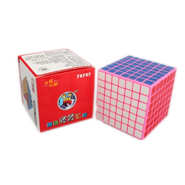Shengshou Rosa 7x7x7 Magia Puzzle Cube 7*7*7 Velocidade Cubo Quadrado blocos de 77mm Learing & Educational Cubo Magico para Caçoa o Presente brinquedos