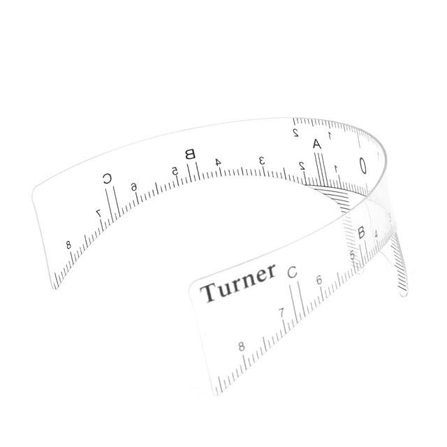 1PC Reusable Semi Permanent Eyebrow Ruler Eye Brow Measure Tool Eyebrow Guide Ruler Microblading Calliper Stencil Makeup 2