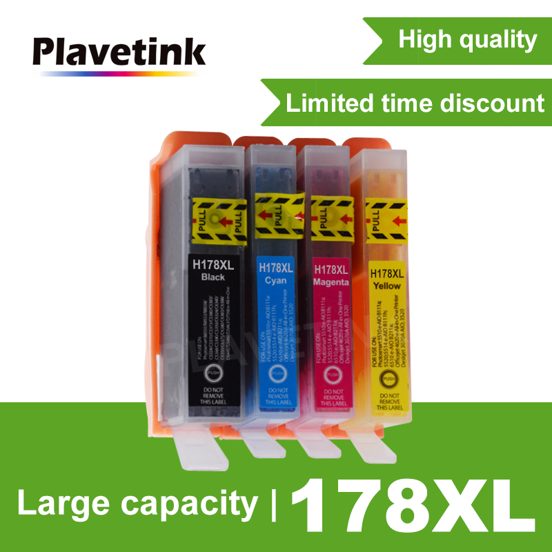 Plavetink HP 178 178XL 용 <font><b>HP178</b></font> Photosmart 4620 5510 5520 5515 5521 6510 6520 6521 프린터 잉크젯 image