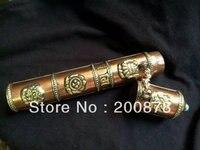 TBC813 тибетская красная состаренная медь коробочка с ароматическими палочками, 8 '', тибетский металл восемь амулет, приносящий удачу цилиндр ...