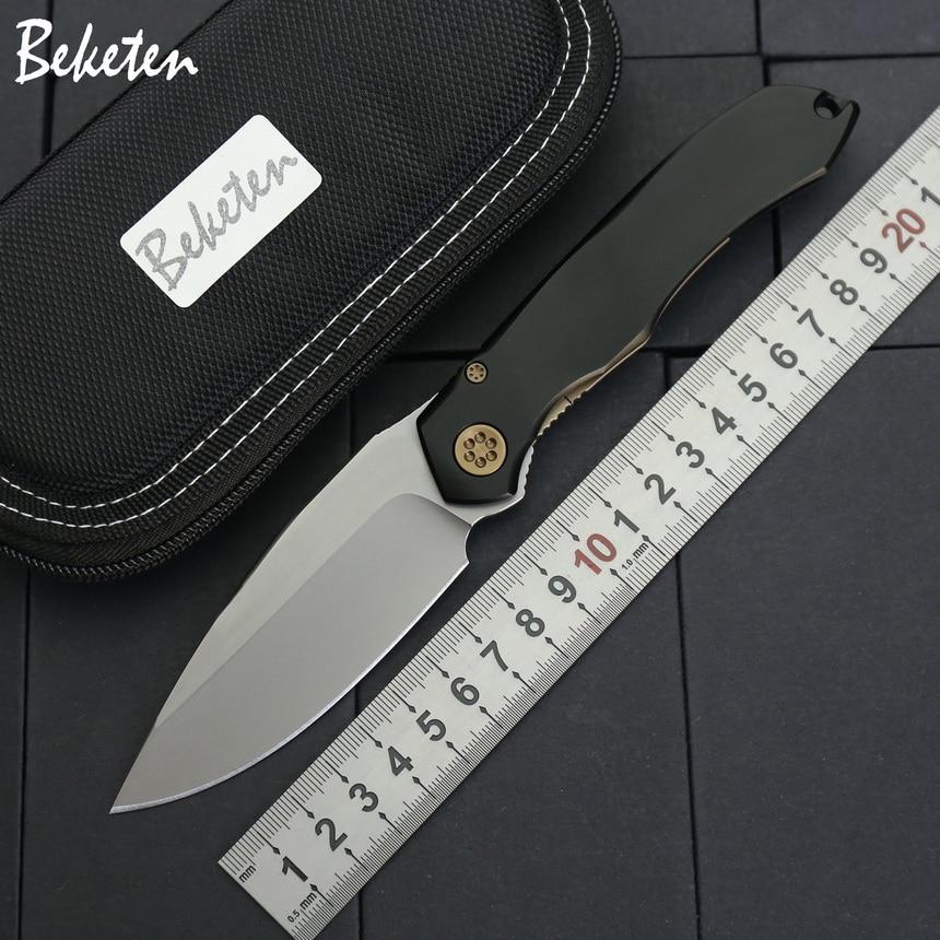 BEKETEN ANAX складной тактический нож, D2 лезвие, алюминиевая ручка, для кемпинга, охоты, карманные фруктовые ножи, инструмент для выживания|Ножи|   | АлиЭкспресс